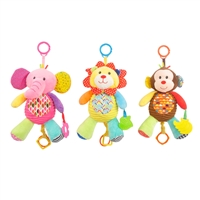 "11"" BABY MUSICAL PULL STRING W/LULLABY & TEETHER (3)"