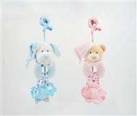 "11"" BABY RATTLE WITH HEAD CLIP TEETHER & HEADER (2) <b class='icon-coming-soon'></b>"