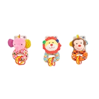 "6"" BABY RINGALING RATTLES W/HEADER CARD 0+M (3) <b class='icon-new-product'></b>"