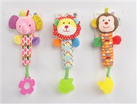 "6.5"" BABY RATTLE W/TEETHER & HEADER CARD 0+3 (3) <b class='icon-new-product'></b>"