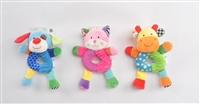 "9"" BABY FIRST YEAR FIRST RATTLE W/HEADER CARD 0+M (3)<b class='icon-new-product'></b>"
