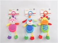 "9.5"" SHAKE & PULL PLUSH RATTLES W/HEADER CARDS 0+M  (3) <b class='icon-new-product'></b>"
