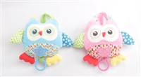 "9"" BABY OWL PULL STRING W/LULLABY (2)"