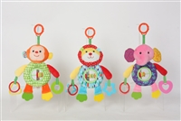 "11"" BABY INTERACTIVE RATTLES W/TEETHER & HEADER (3) <b class='icon-coming-soon'></b>"