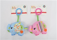 "4"" BABY ELEPHANT RATTLE W/HEADER (2) <b class='icon-new-product'></b>"