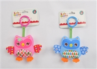 "4"" BABY OWL RATTLE W/HEADER (2) <b class='icon-new-product'></b>"