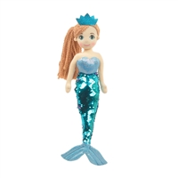"18"" PERLA MERMAID W/REVERSIBLE SEQUIN TAIL <b class='icon-new-product'></b>"