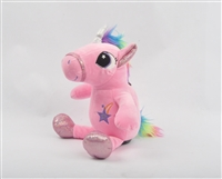 "10"" PINK UNICORN COIN BANK W/SOUND & LIGHT <b class='icon-new-product'></b>"