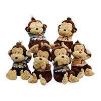 "12.5"" SEE, HEAR, SPEAK NO EVIL MONKEY (6)"