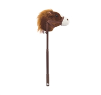 "36"" DARK BROWN ADJUSTABLE HORSE STICK W/SOUND (1) <b class='icon-new-product'></b>"