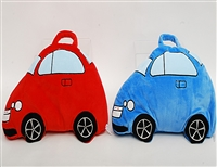 "38"" TAKE ALONG ""RED & BLUE CAR"" BABY PILLOW BLANKET (2)"