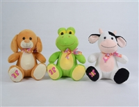 "9"" LOGAN SUMMERTIME SET WITH ANIMAL SOUND-DOG/FROG/COW(3)"