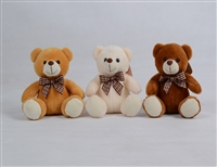 "6"" NORA BEAR  W/RIBBON(3)"