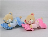 "9"" SLEEPING BEAR W/PILLOW (2)"
