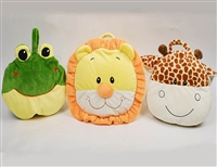 "38"" TAKE ALONG 2 IN 1 ""ANIMALS"" BABY PILLOW BLANKET (3)"