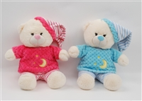 "10"" SLEEPING BEAR W/PAJAMAS (2)"