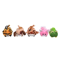 "3.5"" Little Mono Plush - Embroidered Face Animals (5)"