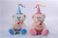 "10"" BIRTHDAY BEAR WITH LIGHT AND SOUND(2)"