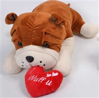 "16""  LUCY BULLDOG WITH HEART (1)"