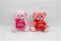 "10"" MISTY BEAR WITH""HUG""/""LOVE"" HEART (2)<b class='icon-coming-soon'></b>"