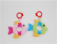 "6"" FISH CARSEAT BABY RATTLES (2)"