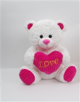 "13"" MANDY BEAR WITH ""LOVE"" HEART(2)"
