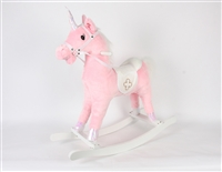 "29"" PINK ROCKING UNICORN W/GALLOPING SOUND"