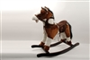 "29"" LACEY BROWN ROCKING HORSE W/SOUND (1)"