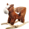 "21"" HORSE BABY ROCKER W/SAFETY BELT & GALLOPING SOUNDS"
