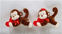 "9"" ABA AND ABBY  MONKEY ASST WITH HEART (2)"