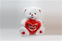 "18"" DELTA VAL W/BEAR WITH RED"" LOVE"" HEART $ MUSIC, LIGHT(1)"