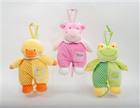 "11.5"" SNUGGLY ANIMALS PLUSH ""LULLABY"" MUSICAL (3)"
