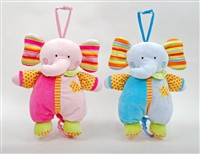 "11.5"" PINK & BLUE ELEPHANT ""LULLABY""  MUSICAL(2)"