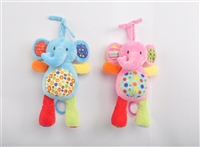 "11.5"" BABY ELEPHANT PULL STRING W/LULLABY (2)"