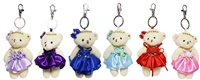 "4.5"" Bear with key ring Packing:12 pcs solid color in one Polyba"