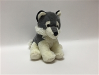 "9"" MARBLE SITTING WOLF (1)"