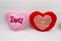 "22"" X 18"" PINK & RED HEART PILLOW (2)"