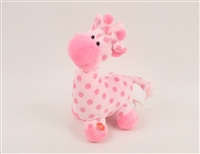 "12""PINK PATTY CAKE GIRAFFE WITH MOVING NECK AND SOUND(1)"