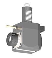VDI 30, Angular Tool Holder, Sauter DIN 5480 Coupling, No Internal Cooling, Inverted Rotation - Left/55, ER25