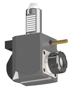 VDI 30, Angular Tool Holder, Sauter DIN 5480 Coupling, With Internal Cooling, Inverted Rotation - Right/100, ER25