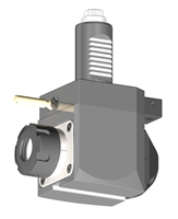 VDI 30, Angular Tool Holder, Sauter DIN 5480 Coupling, With Internal Cooling, Inverted Rotation - Left/55, ER25