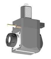 VDI 40, Angular Tool Holder, Sauter DIN 5482 Coupling, With Internal Cooling, Inverted Rotation - Left, ER32