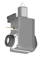 VDI 40, Angular Tool Holder, Duplomatic DIN 1809 Coupling, With Internal Cooling, Inverted Rotation - Left, ER32
