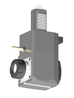 VDI 40, Angular Tool Holder, Sauter DIN 5480 Coupling, No Internal Cooling, Inverted Rotation - Left/100, ER32