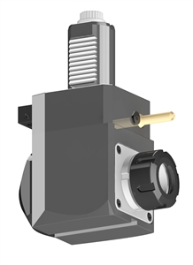 VDI 40, Angular Tool Holder, Sauter DIN 5480 Coupling, With Internal Cooling, Inverted Rotation - Right/80, ER32