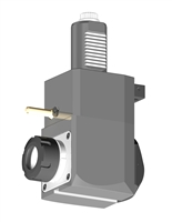 VDI 40, Angular Tool Holder, Sauter DIN 5480 Coupling, With Internal Cooling, Inverted Rotation - Left/100, ER32
