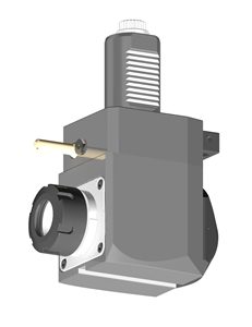 VDI 40, Angular Tool Holder, Sauter DIN 5480 Coupling, With Internal Cooling, Inverted Rotation - Left/80, ER32