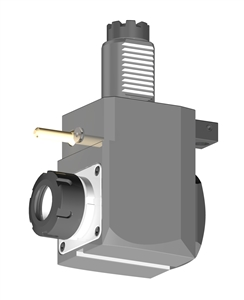 VDI 40, Angular Tool Holder, TOEM Coupling, No Internal Cooling, Inverted Rotation - Left/71, ER32