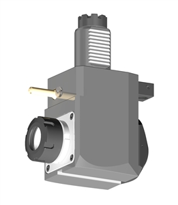 VDI 40, Angular Tool Holder, TOEM Coupling, With Internal Cooling, Inverted Rotation - Left/71, ER32
