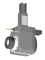VDI 40, Angular Tool Holder, Haas Coupling, No Internal Cooling, Inverted Rotation Direction - 69/104.85, ER32